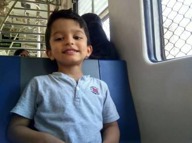 On board the Churchgate-Borivali local train in Mumbai